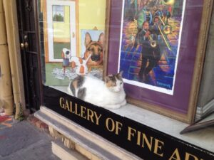 Great art gallery ... I just love this cat :)