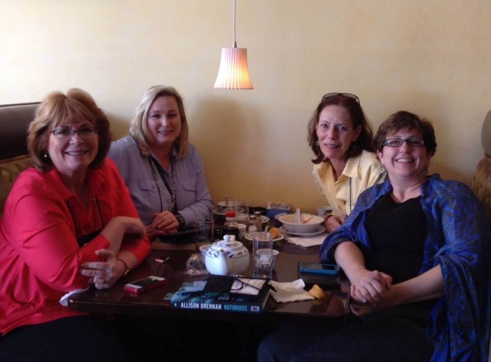 Donnell Ann Bell, Susan Boyer, Cathy Perkins and me!