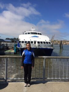 Mary's first boat ride. Ferry to San Francisco. It was a beautiful day!