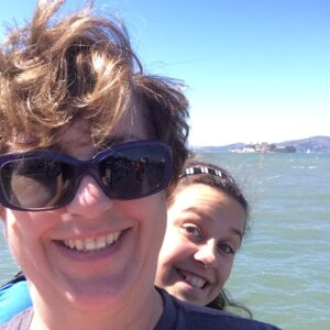 Mary photobombed me as I was attempting a selfie with Alcatraz in the background.