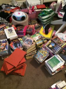 Mary's messy books