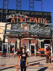 We made it! Mary's first Giants game. They lost Friday night in what was a good game until three of our players all made stupid base running moves ... but then we won two fabulous games on Saturday and Sunday. The season certainly isn't over!