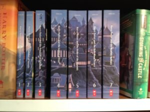 The new releases of Harry Potter ... Christmas is coming, I tell her!
