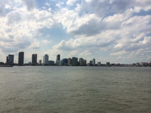 The last chapter of COMPULSION has Max and David looking out at this view -- the Hudson River.